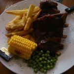 half rack of bbq pork ribs
