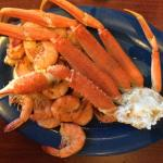 Shrimp and crab legs. Yeah baby!