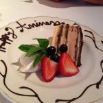 Perfect anniversary dessert.  Felt special!