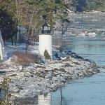 Whitlock's Mill Lighthouse in winter.