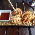 Menu and sushi