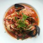 Seafood Diablo.  Tasty w/a nice kick!
