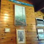 The main wall/focal point in the restaurant.