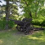 Cannon in the back yard, because, cannon.