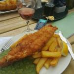 Battered fish, chips and peas! £12.50
