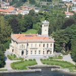 Villa Erba à Cernobbio vue d'avion.