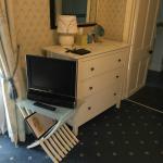 TV and Dresser near ensuite