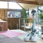 espace wellness avec whirlpool et crosstrainer
