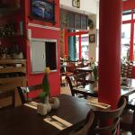 Inside this superb restaurant