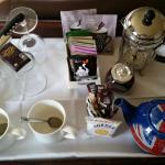 Yummy tea tray in the bedroom