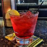 Rubino: Lemon Rum, Amaretto, and Cranberry Juice