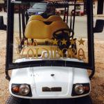 The golf buggy taxi service!