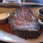 Prime rib sans side dishes.