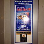Vending machines in male toilet