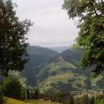Blick vom Zimmer / Terrasse ins Tal