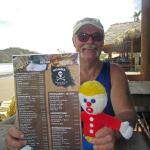 Mr. Bill and Me check out the menu.