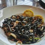 Seafood with Squid Ink Linguine
