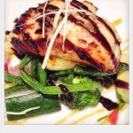 black cod misoBlack cod fillet marinaded in white miso for 24hrs and grilled served with assor