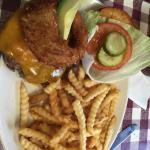 Big huge Widowmaker burger! Love it!! Their fries are good too!
