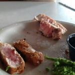 Worst seafood. Seared tuna was breaded and overcooked. It took forever to bring to table,  wonde