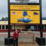"Sign advertising ""World's Northernmost Denny's"""