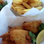 Crumbed whitting and old style chips!