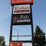 Signs along the main street, Ricky's All Day Grill  |  1119 2nd Street West, Brooks, Alberta T1R