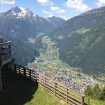 View of Mayrhofen from hotel terrace
