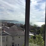The view of the white cliffs and the memorial from our window, beautiful!