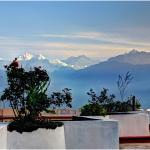 Mt Kanchenjunga view from the hotel terrace