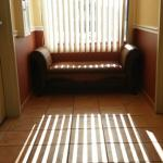 Sunny morning in the corridor