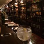 Gin and tonic at the bar