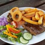 Really well priced!! Friendly little pub.. ���� really nice food and friendly staff. Best steak