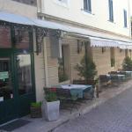 Вход в отель и ресторан