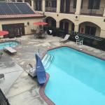 The pool and jacuzzi from room 224