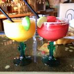 mango and strawberry margarita's