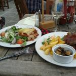 Spare ribs and lasagne