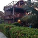 View of Colibri House from the beach.