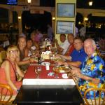 Group meal on our last night, we all met in Marmaris that year.