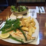 Grilled Medium Cod and Chips with excellent Tartare Sauce