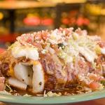 Smothered Red Chile Chicken Burrito! Want one?