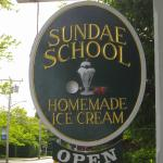 Sign in front of Sundae School