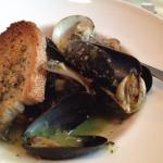 Tuesday night at Leon's in North Haven. Chef's Table four courses for $22.95. Muscles and clams.