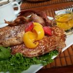 French Toast w/ Bacon and Fruit
