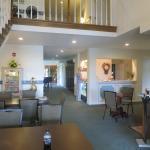 The pleasant lobby