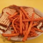 Brisket with sweet potato fries
