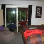 Raven's Nest nice furniture, blackout blinds, big bathroom