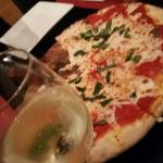 Giuseppe - perfect pizza with Pinot Grigo
