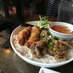 Grilled Pork and Crispy Spring Roll
