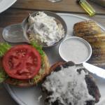 Burger με gorgonzola